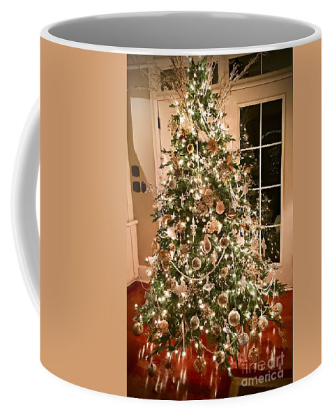 Decoration Coffee Mug featuring the photograph Oh Christmas Tree by Linda Covino