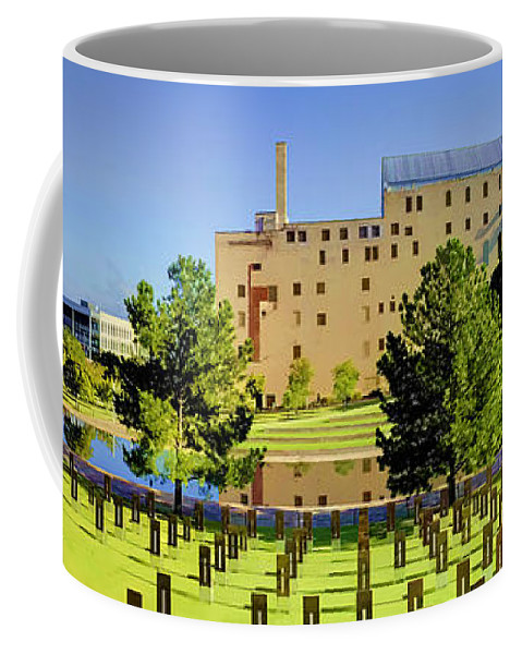 National Coffee Mug featuring the photograph Oklahoma City National Memorial by Ricky Barnard