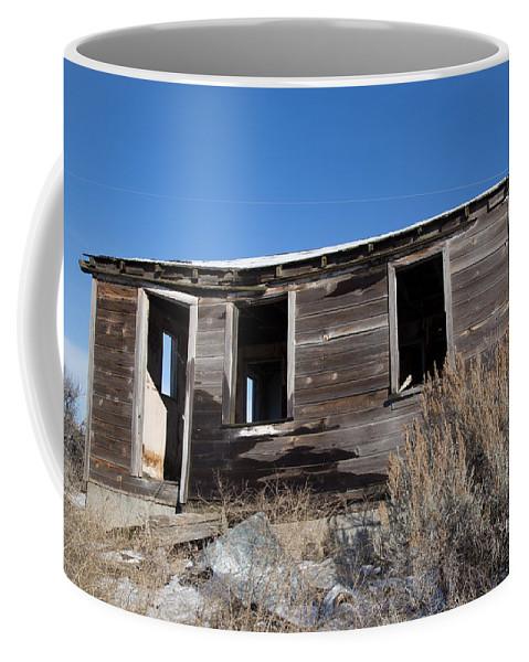 Cabin Coffee Mug featuring the photograph Old Cabin in Idaho, USA by Dart Humeston