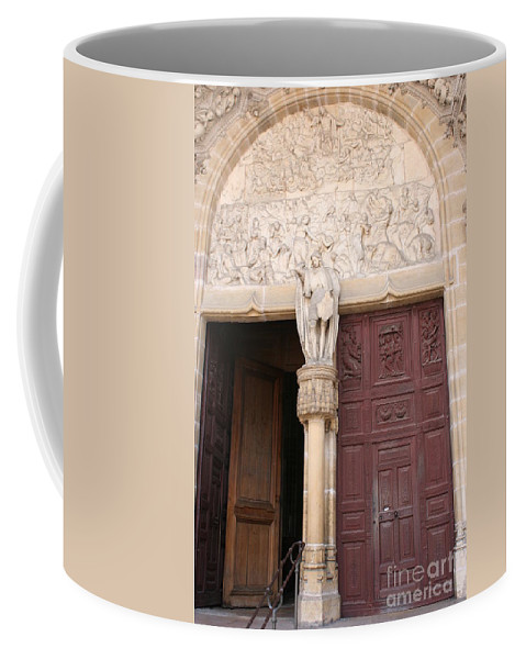 Door Coffee Mug featuring the photograph Old Church Door by Christiane Schulze Art And Photography