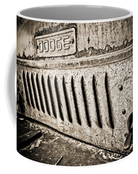 Car Coffee Mug featuring the photograph Old Dodge Grille by Marilyn Hunt