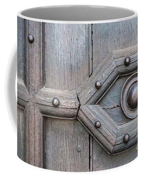 Door Coffee Mug featuring the photograph Old Door Detail by Elena Elisseeva