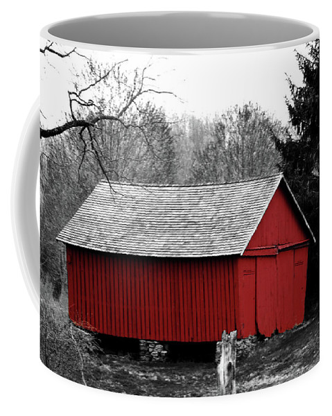 Red Coffee Mug featuring the photograph Old Red by Lori Tambakis