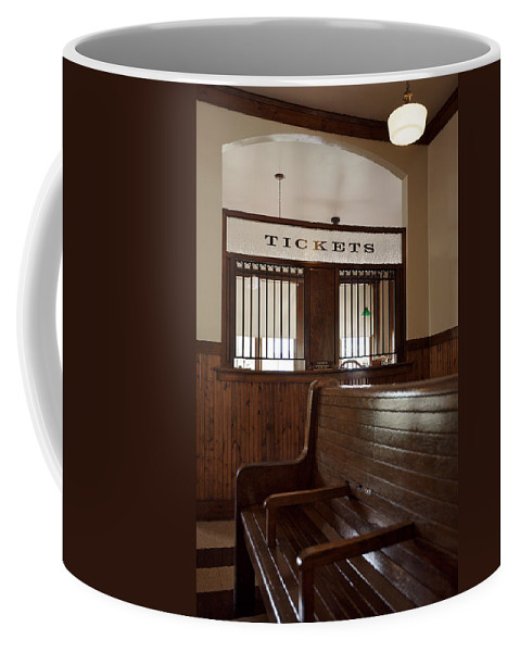 Lawrence Coffee Mug featuring the photograph Old Time Train Station by Lawrence Boothby