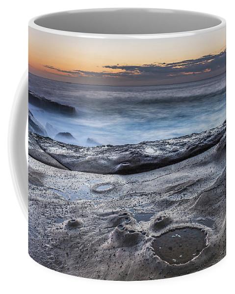Australia Coffee Mug featuring the photograph On The Ledge - Sunrise Seascape by Merrillie Redden