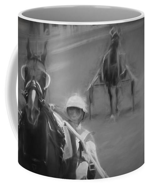 Horse Race Coffee Mug featuring the photograph On The Side by Alice Gipson