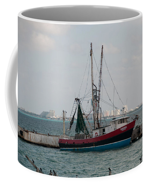 Mexico Quintana Roo Coffee Mug featuring the digital art On The Way To Isla Muheres by Carol Ailles