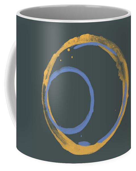 Orange Coffee Mug featuring the painting Orange And Blue 2 by Julie Niemela