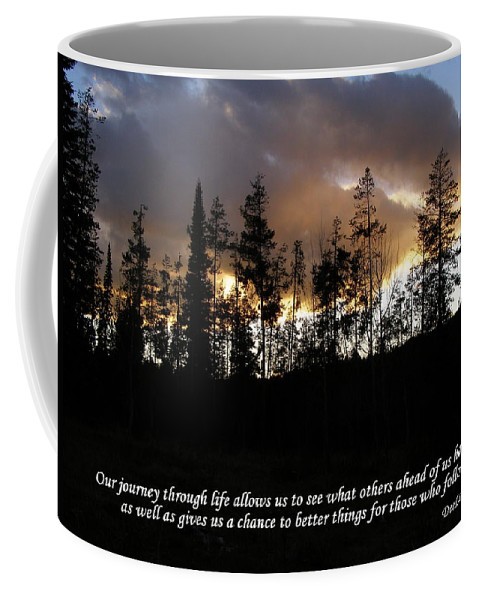 Trees Coffee Mug featuring the photograph Our Journey Through Life... by DeeLon Merritt
