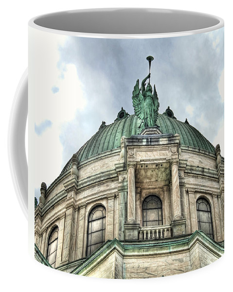 Olv Coffee Mug featuring the photograph Our Lady Of Victory Angel by Tammy Wetzel