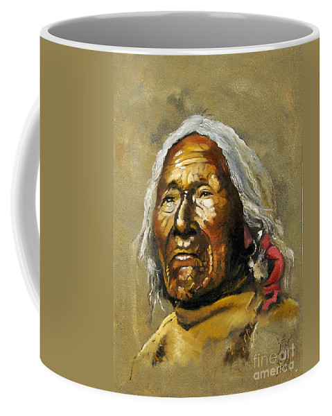 Southwest Art Coffee Mug featuring the painting Painted Sands Of Time by J W Baker