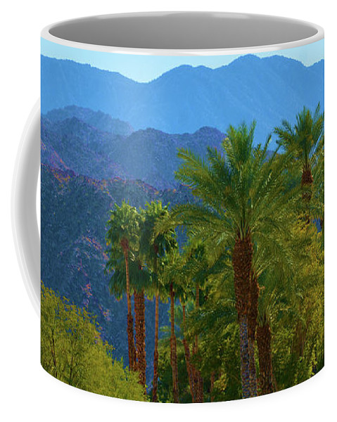 Nature Coffee Mug featuring the photograph Palm Springs Mountains by Richard Jenkins