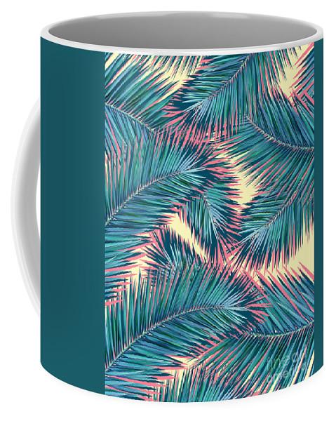 Summer Coffee Mug featuring the digital art Palm Trees by Mark Ashkenazi