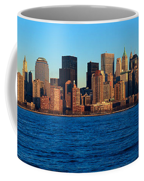 Photography Coffee Mug featuring the photograph Panoramic Sunset View Of Lower by Panoramic Images