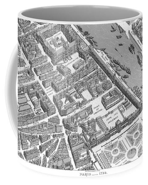 Paris Coffee Mug featuring the painting Paris 1730 by Granger