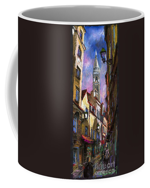 Pastel Coffee Mug featuring the painting Paris Montmartre by Yuriy Shevchuk