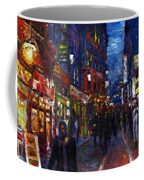 Oil Coffee Mug featuring the painting Paris Quartier Latin 01 by Yuriy Shevchuk