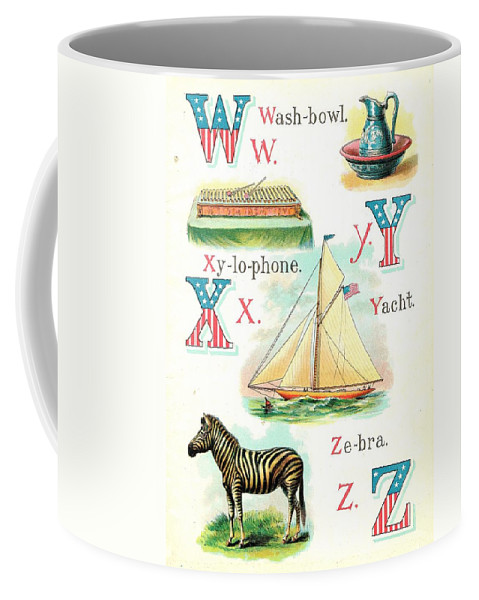 Coffee Mug featuring the painting Patriot Abc Book Page Twelve by Reynold Jay