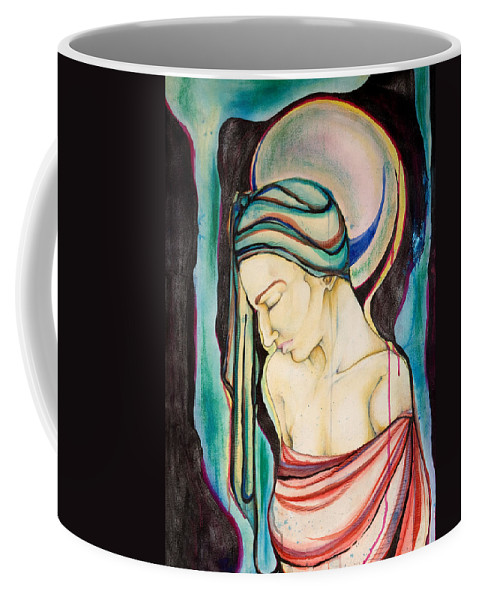 Peace Coffee Mug featuring the painting Peace Beneath The City by Sheridan Furrer