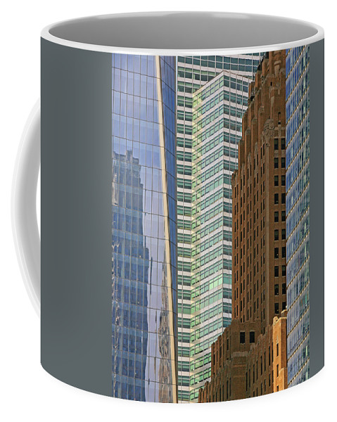Peace Tower Coffee Mug featuring the photograph Peace Tower Abstract by Darrel Giesbrecht