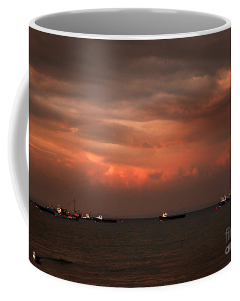 Pembrokeshire Coffee Mug featuring the photograph Pembrokeshire by Angel Tarantella