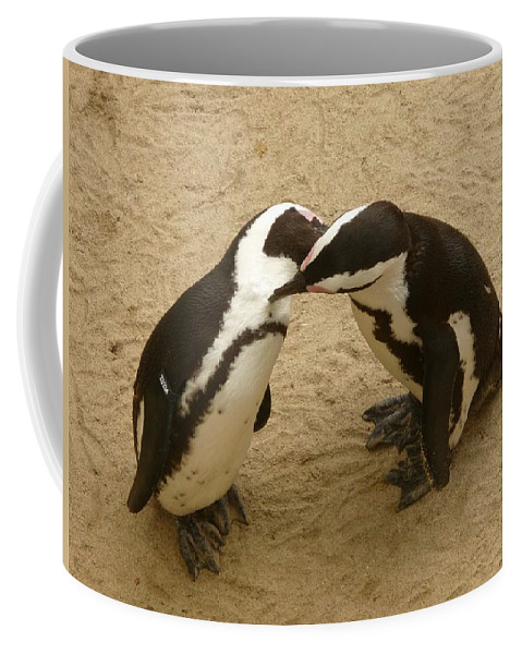 Penguin Coffee Mug featuring the photograph Penguins by FL collection
