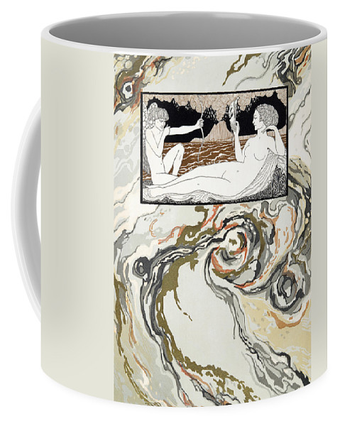 Cupid Coffee Mug featuring the painting Personages De Comedie by Georges Barbier