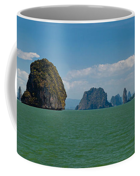 Island Coffee Mug featuring the photograph Phang Nga Province Of Phuket Thailand by Anthony Totah