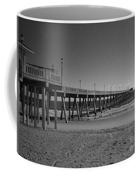 Pier Coffee Mug featuring the photograph Pier Willmington Nc by Tommy Anderson