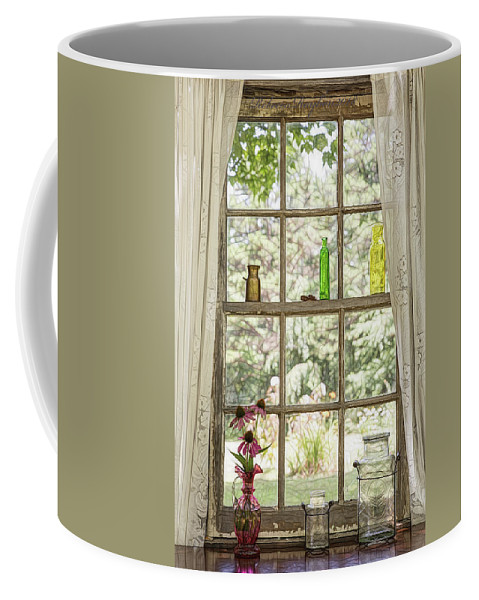 Old Window Coffee Mug featuring the photograph Pink by Rebecca Raybon