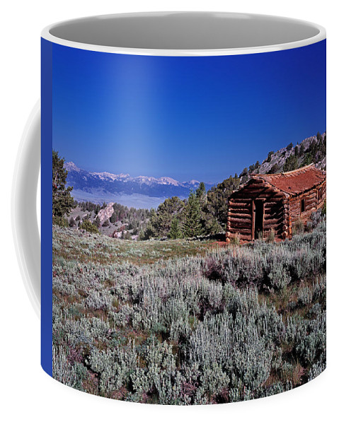 Cabin Coffee Mug featuring the photograph Pioneer Cabin by Leland D Howard