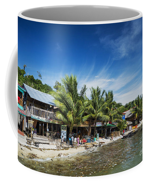 Asia Coffee Mug featuring the photograph Polluted Dirty Beach With Garbage Rubbish In Koh Rong Island Cam by Jacek Malipan