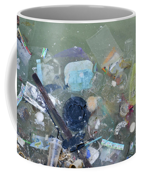 Waste Coffee Mug featuring the photograph Polluted Dirty Water by Shay Levy