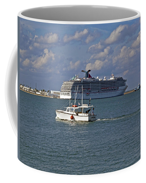 Port Coffee Mug featuring the photograph Port Canaveral In Florida by Allan Hughes