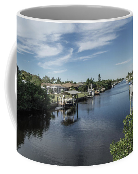 Florida Coffee Mug featuring the photograph Port Charlotte Ackerman Waterway From Ohara by Don Kerr