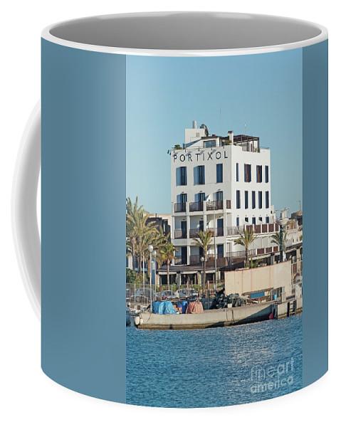 Afternoon Coffee Mug featuring the photograph Portixol Marina Moored Boats by Ingela Christina Rahm