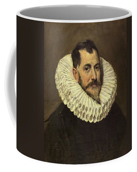 Beard Coffee Mug featuring the painting Portrait Of A Gentleman by El Greco