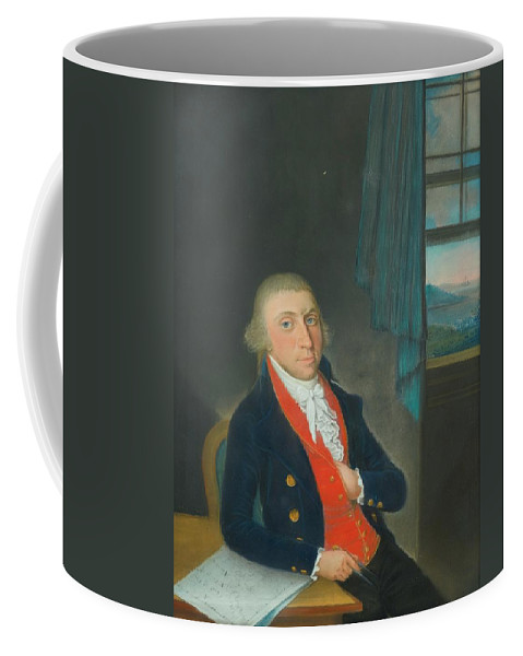 Dutch School Coffee Mug featuring the painting Portrait Of An American Sea Captain by MotionAge Designs
