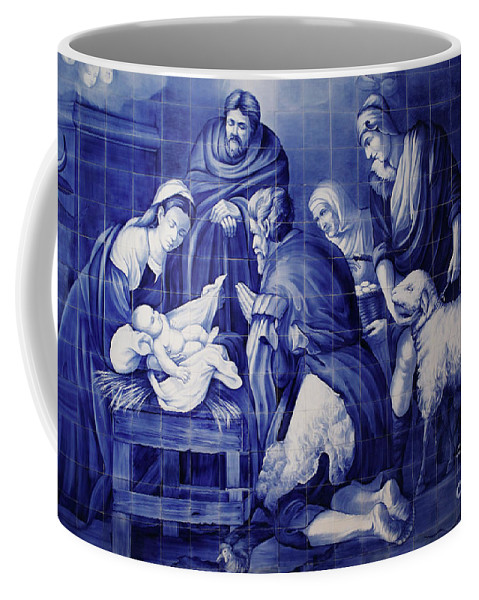 Catholicism Coffee Mug featuring the photograph Portuguese Azulejo Tiles by Gaspar Avila
