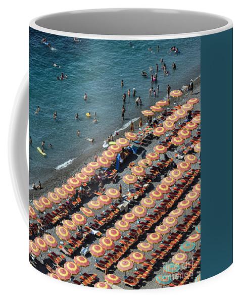 Amalfi Coast Coffee Mug featuring the photograph Positano Beach by John Greim