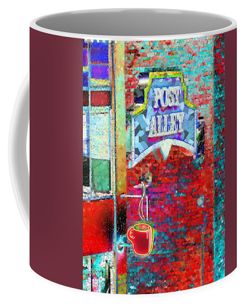 Seattle Coffee Mug featuring the photograph Post Alley by Tim Allen