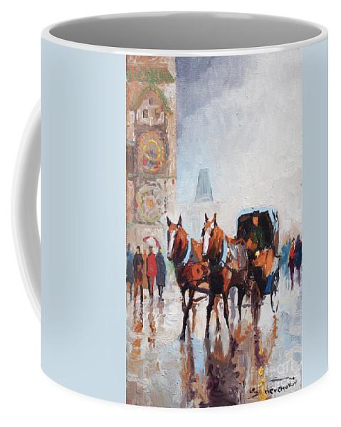 Prague Coffee Mug featuring the painting Prague Old Town Square by Yuriy Shevchuk