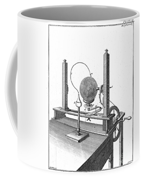 Science Coffee Mug featuring the photograph Priestleys Electrostatic Machine, 1775 by Wellcome Images