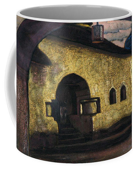 Architectural Coffee Mug featuring the painting Pskov by Nicholas Roerich