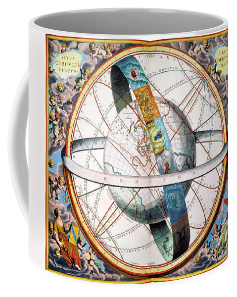 1660 Coffee Mug featuring the photograph Ptolemaic Universe, 1660 by Granger