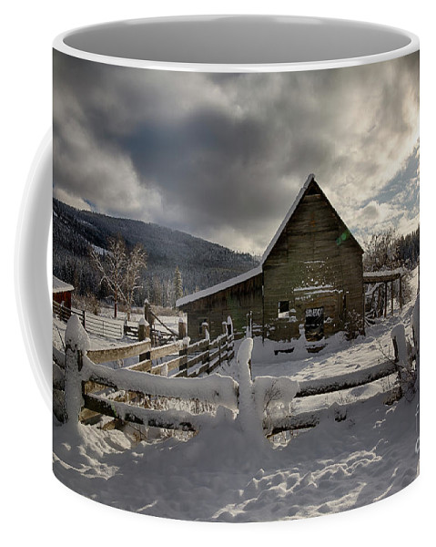Boundary County Coffee Mug featuring the photograph Purcell Barn by Idaho Scenic Images Linda Lantzy