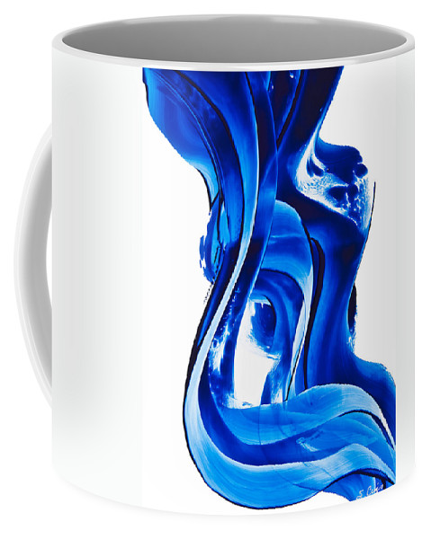 Abstract Art Coffee Mug featuring the painting Pure Water 66 by Sharon Cummings
