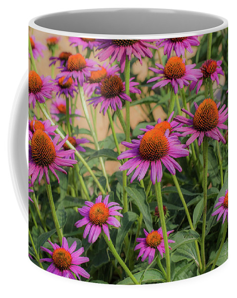 Flower Coffee Mug featuring the photograph Purple Blooms by Peter Bouman