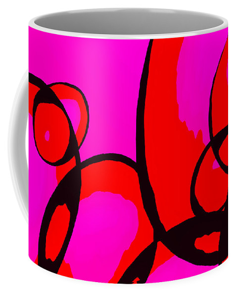 Abstract Coffee Mug featuring the digital art Qualia by Richard Rizzo
