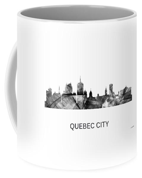 Quebec City Que. Skyline Coffee Mug featuring the digital art Quebec City Que. Skyline by Marlene Watson